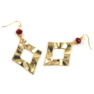 Crystal Earrings in Gold