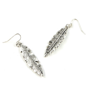 Lily Leaf Earrings in Silver