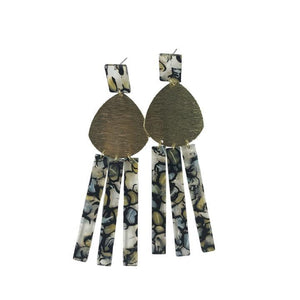 Kami Acrylic Brass Earrings