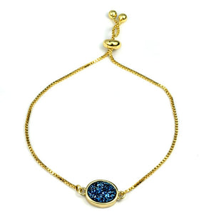 Brandy Small Oval Bracelet in Gold