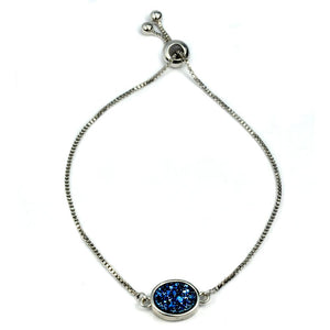 Brandy Small Oval Bracelet in Silver