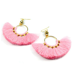 Chloe Tassel Fan Earrings