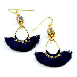 Aria Small Tassel Fan Earrings