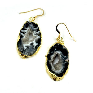 Leila Agate Druzy Earrings