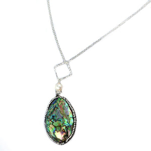 Abalone & Pearl Necklace in Silver