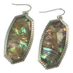 Gina Abalone Oval Earrings