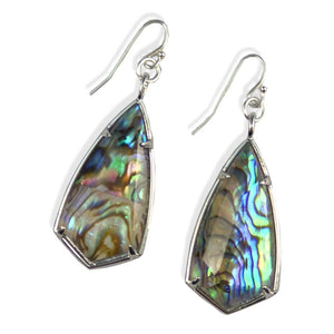Chrissy Abalone Earrings in Silver
