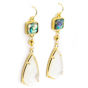 Courtney Abalone and Mother of Pearl Earrings