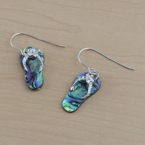 Flip Flop Abalone earrings