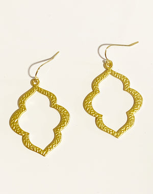 CJ Hammered Gold Earrings