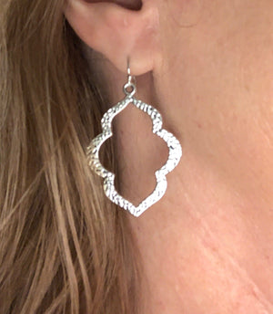 CJ Small Hammered Silver Earrings