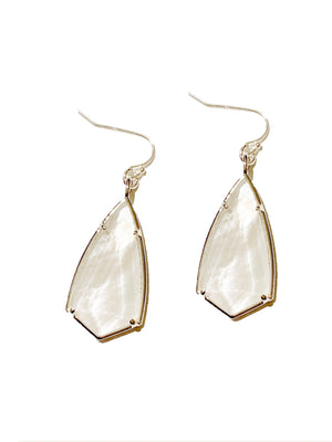 Laurel Mother of Pearl Earrings Silver