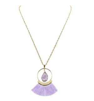 Lavender Fringe Necklace