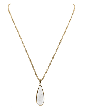 Quartz Drop Necklace