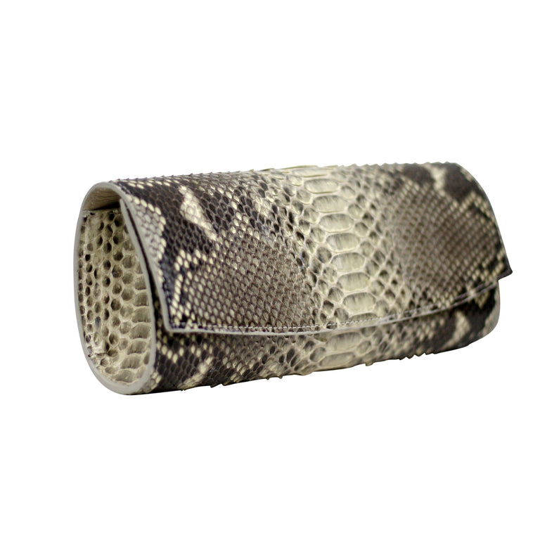Cora Clutch in Snakeskin