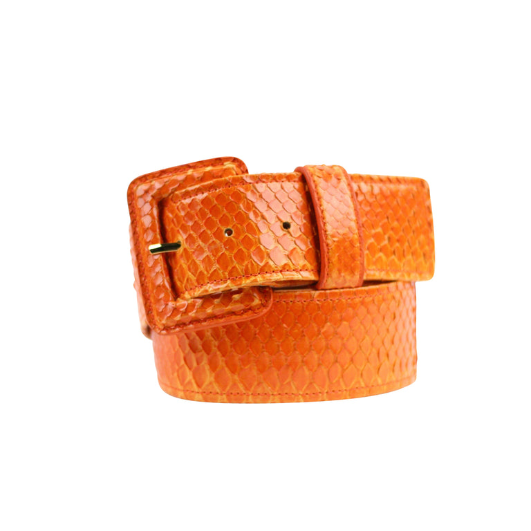 Python Belt with Covered Buckle