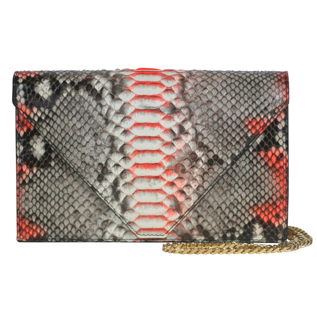 Olivia Clutch in Natural Python