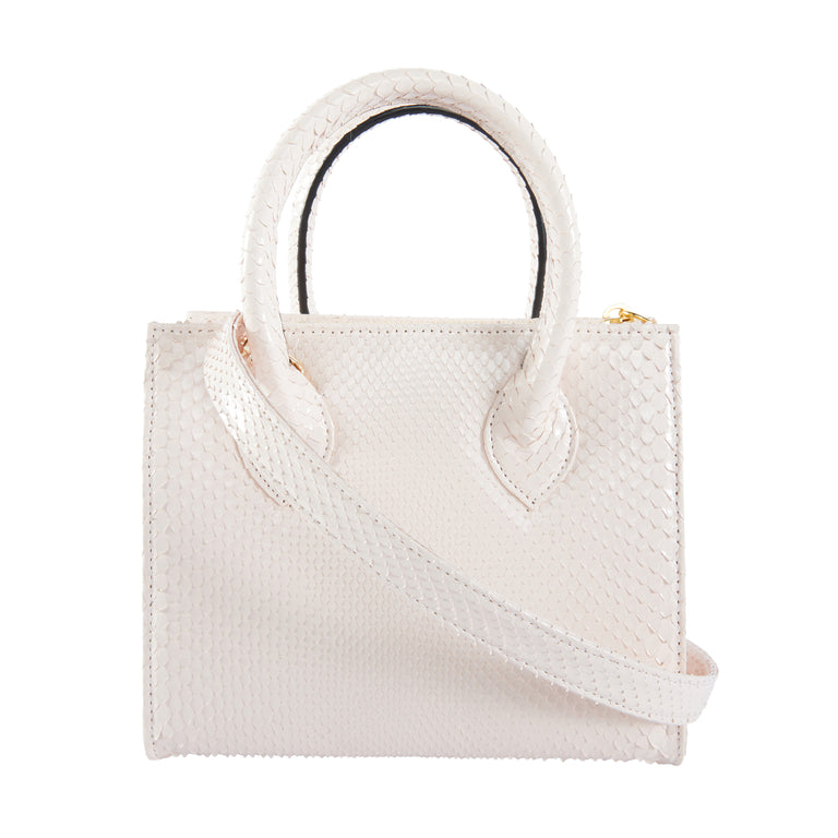 Catherine Mini Tote In Snakeskin