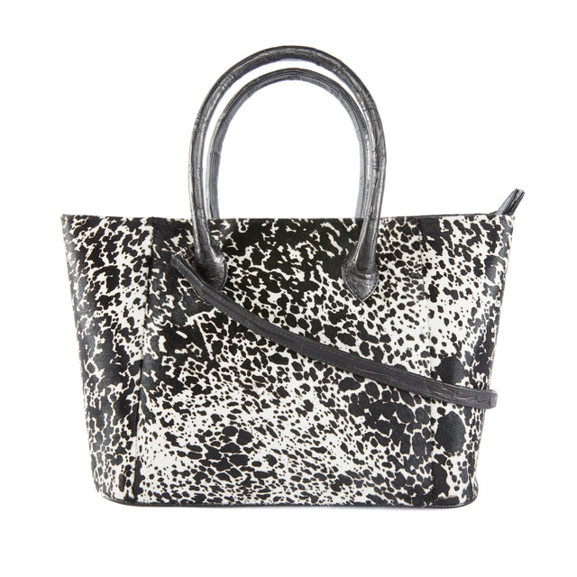 Pate Tote Bag in Pony Hair and Alligator