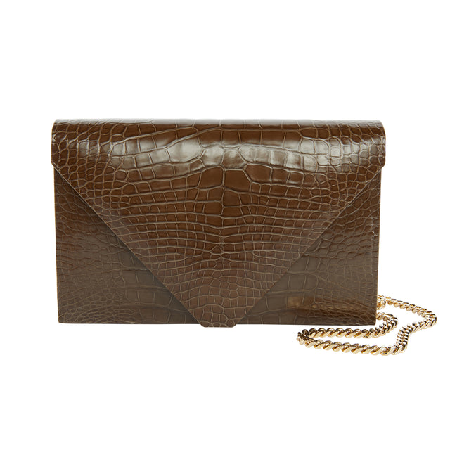 Olivia Clutch in American Alligator