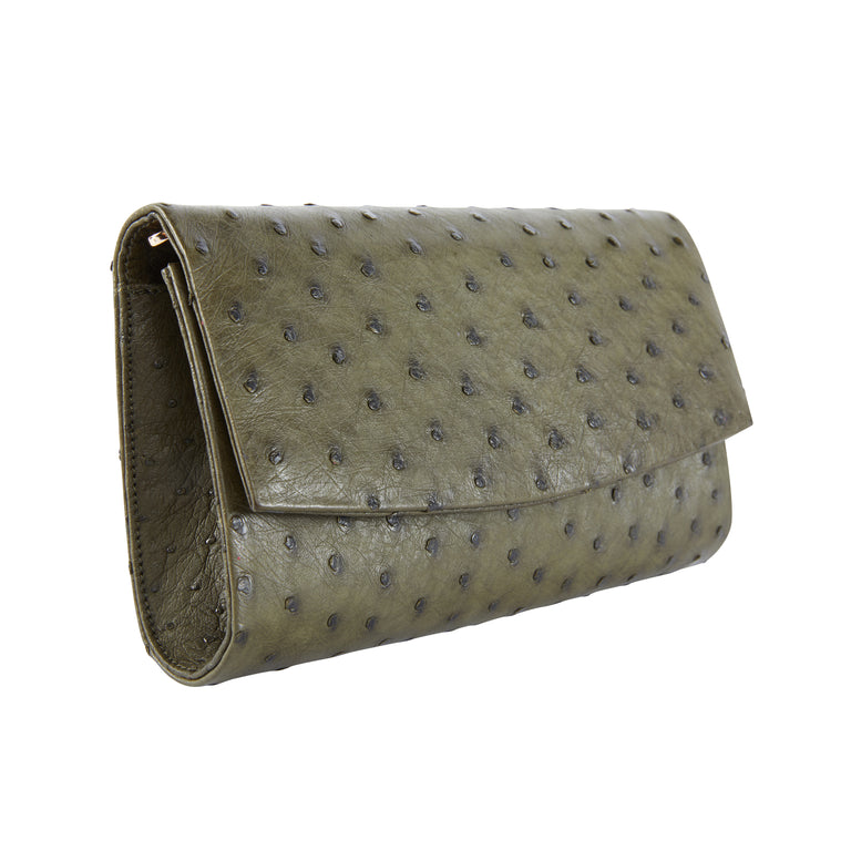 Sadie Clutch in Ostrich