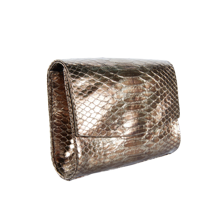 Sadie Clutch in Snakeskin