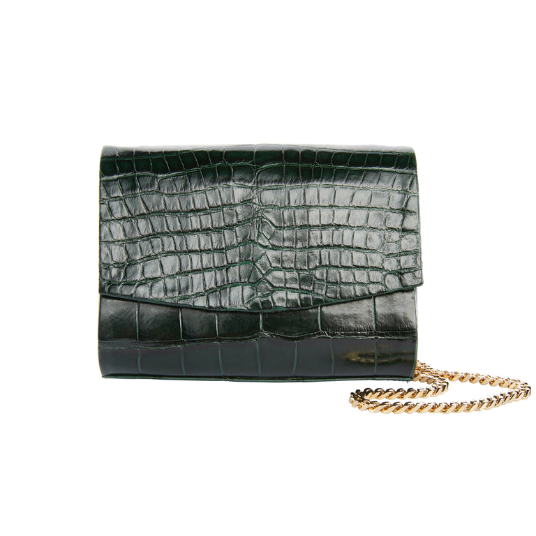 Sadie Clutch in American Alligator