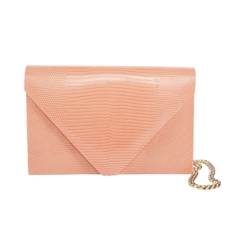 Olivia Clutch in Lizard