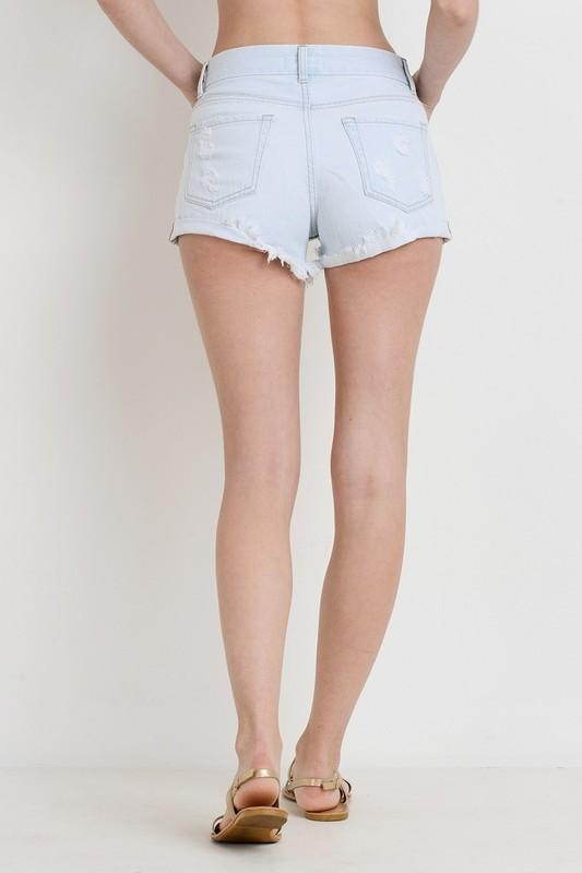Just USA shorts High Rise Double Rolled Hem Short