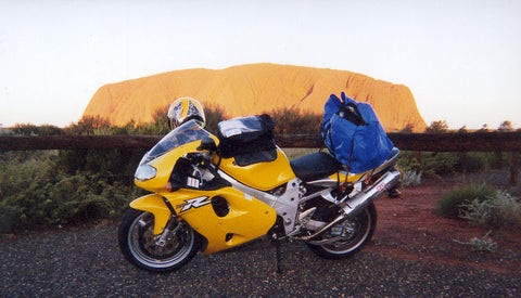 Ayers Rock with a Suzuki TLR1000