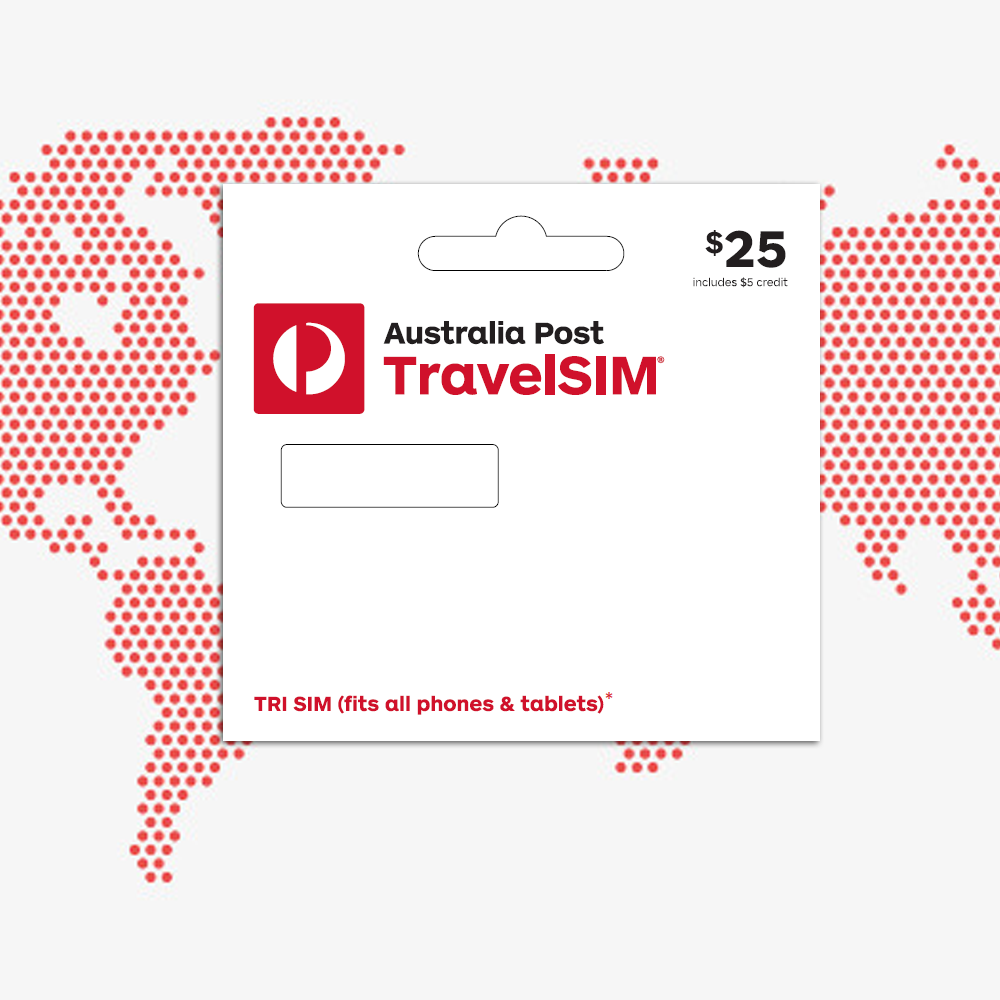 Australia Post TravelSIM Overseas Starter Pack