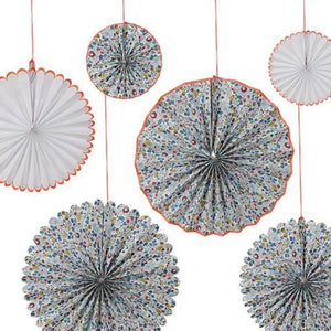 Floral Printed Party Fans