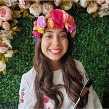 Load image into Gallery viewer, Group Bachelorette  Small Flower Crowns (minimum order of 5) - Wedding Party Accessory - Custom Made - Floral Headband - Photo Prop