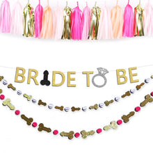 Load image into Gallery viewer, Bride to Be Bachelorette Party Penis Banner