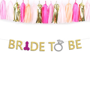 Bride to Be Bachelorette Party Penis Banner