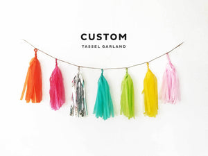 Custom Tissue Tassel Garland