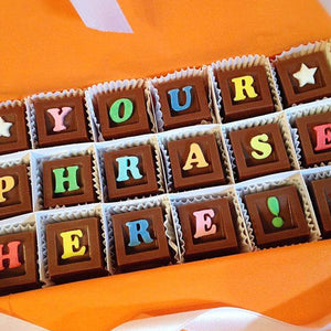 Personalize Your Message in Chocolate