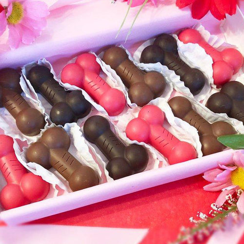 12 Mixed Flavors Penis Shaped Chocolates