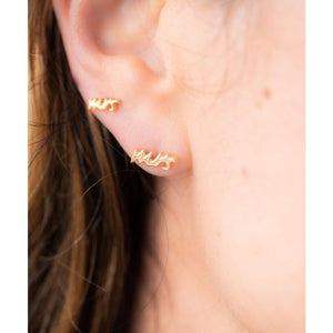 Mrs 18k Gold Earrings at The Beach Bride