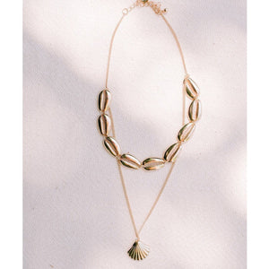 The Abacos Cowrie Choker with Shell Necklace