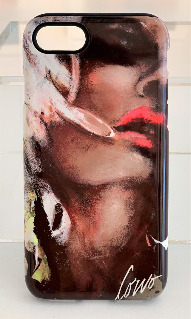 iPhone X / XS Tough Case Face on Black