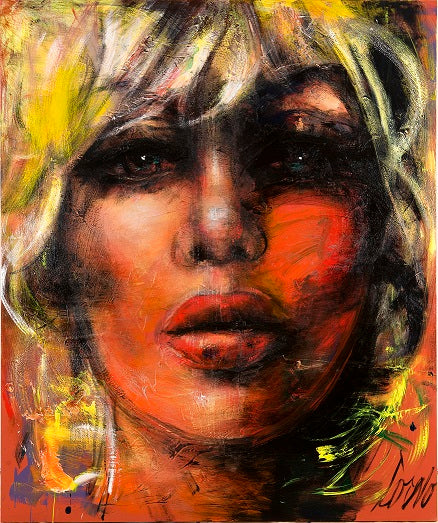 "CRYSTAL PLEXIGLASS ""BLONDE WITH GREY EYES"""