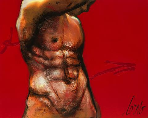 Male Torso on Red 3