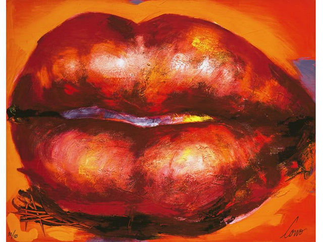 Corno Giclee Print Red Lips
