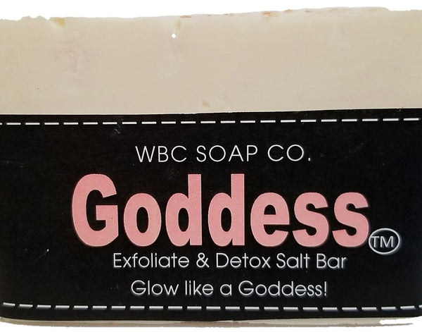 Goddess Detoxifying Exfoliating Salt Bar - WBC SOAP CO.