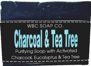 Charcoal & Tea Tree Soap - WBC SOAP CO.