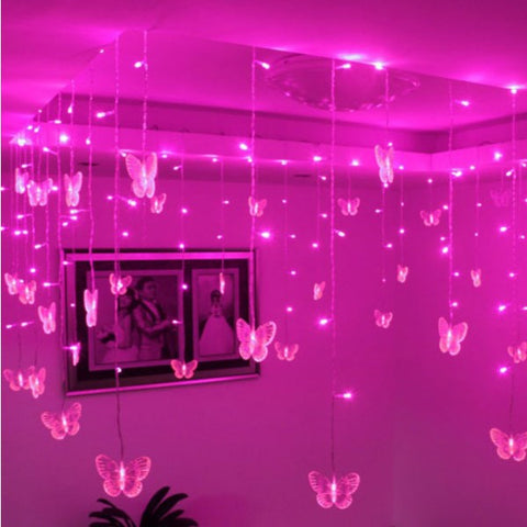 butterfly curtain lights fairywings