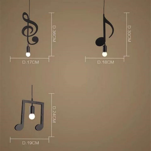 DoReMi Music Note Pendant Lamp