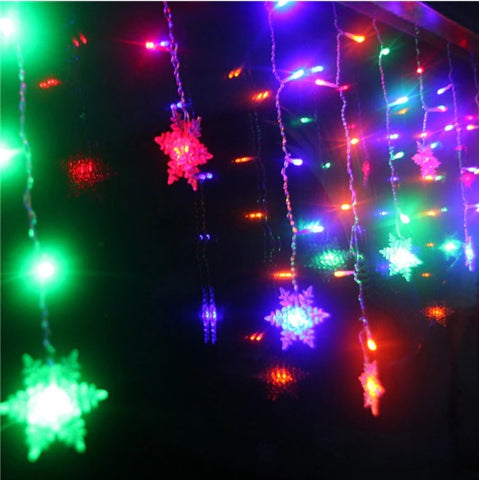 snoflake string lights
