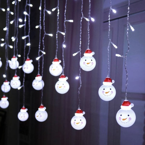 snowman string lights